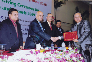 Certificate of Merit Award by the Institute of Chartered Accountants of Bangladesh for Best Published Annual Accounts and Reports for three consecutive years
