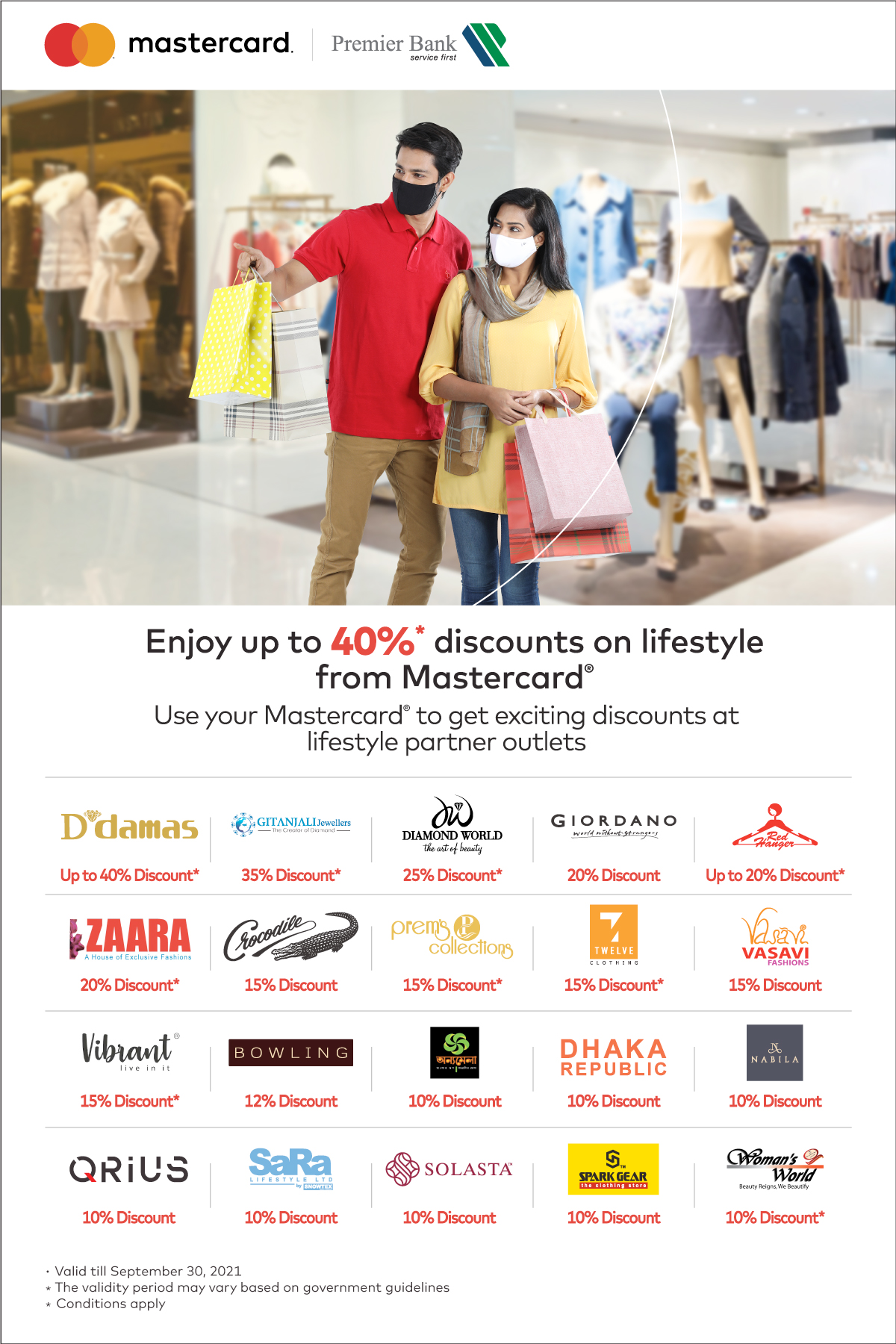 Enjoy Discounts on Lifestyle by Premier Bank Mastercard